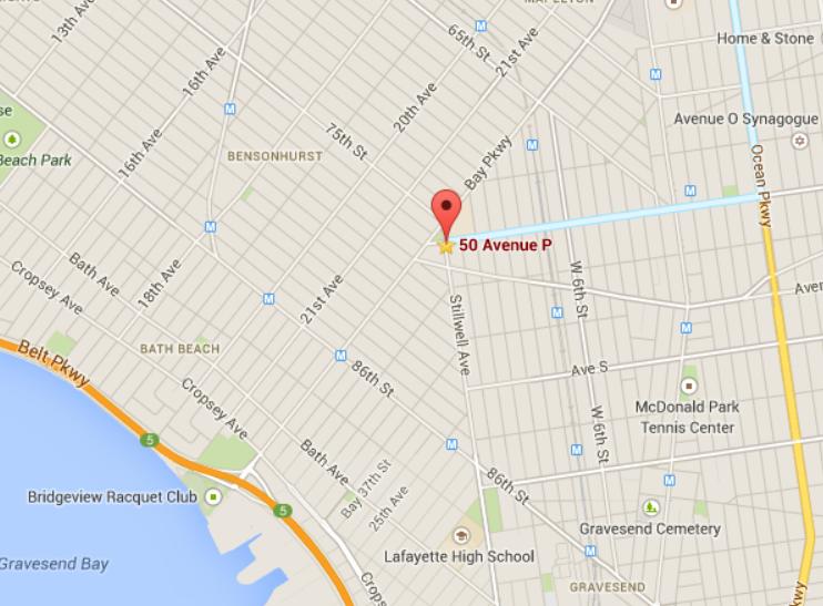 Map 50 Avenue P