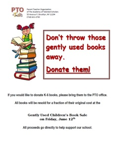 gently used books flier