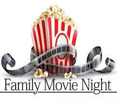 Family Movie Night Illustration