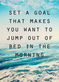 set a goal inspirational monday