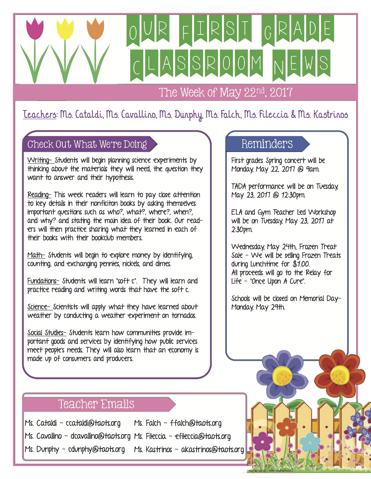 Worksheets Fundations Worksheets 1st grade homework newsletter for week of 52217