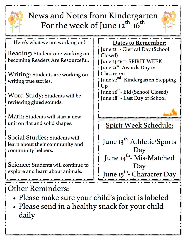 Gr K Newsletter6.12.17