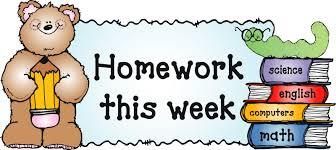 Homework & Newsletter 10.16.17