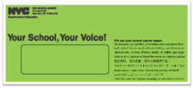 parent survey green envelope
